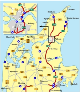 What town is not places in Nordjylland (Northern Jutland)?