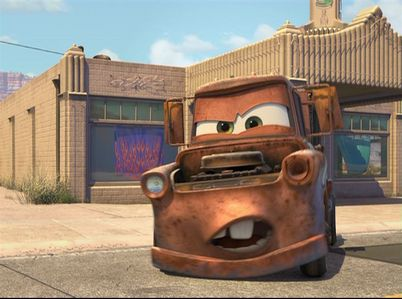 What color was Mater before he rusted?