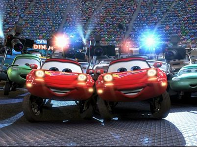 What are the names of Lightning McQueen's two biggest fans?