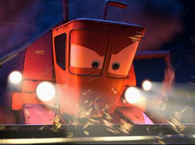 What is the name of the harvester that chases Lightning and Mater?