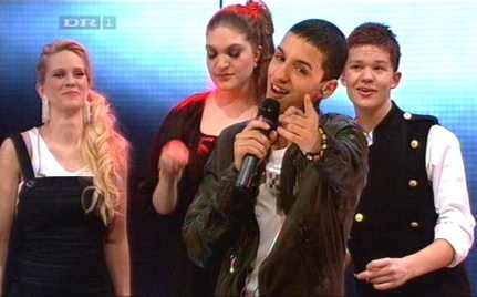 Who won the Danish X Factor on DR1 2008?