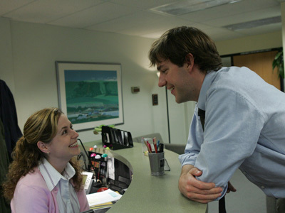 When did we, the viewers, find out about Jim and Pam's relationship? (which episode?)