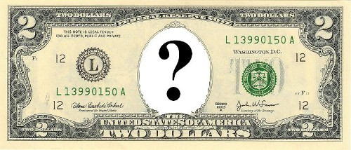 Whose face was on the United States two dollar bill issued in 1869?