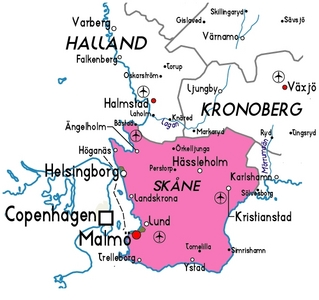 Skne was once a Danish holding. What year was the first time it came under control of Sweden?