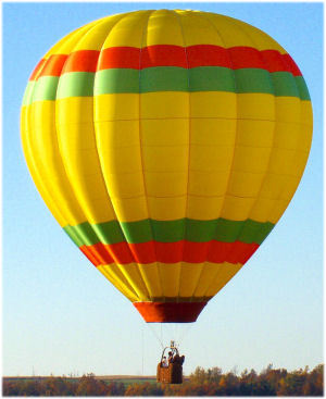 """What pattern/picture did """"Henry Gale"""" say his hot air balloon had?"""