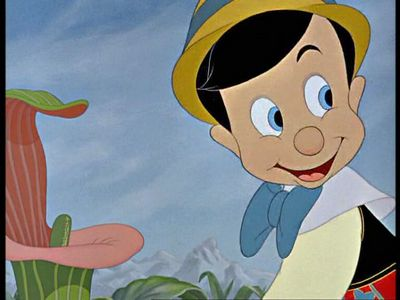 NAME THE OBJECT: What does Pinocchio have in his hat?