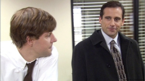In which episode does Jim NOT have a heart-to-heart talk with Michael?