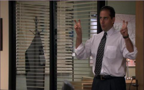Which of these accusations does Michael Scott NOT make against the Diversity Day presenter?