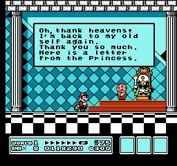 In the original version, what was the first world's king transformed into before Mario saved him?