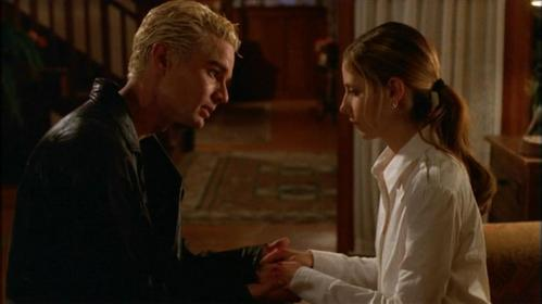 In what episode does Buffy tell Spike that she's not ready for him to not be there?