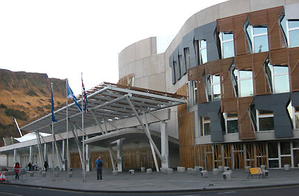 Where can the Scottish Parliament building be found?