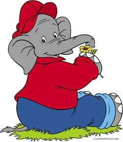 Who is this crazy talking elephant on a sugar high?