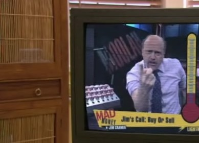 In the series finale, the Bluth Company stock is given which rating on Mad Money?