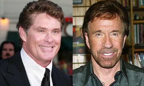 In which of these films will toi find a cameo appearance par David Hasselhoff AND Chuck Norris?