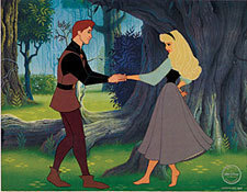 Rose and Phillip's first encounter with each other was in the forest.