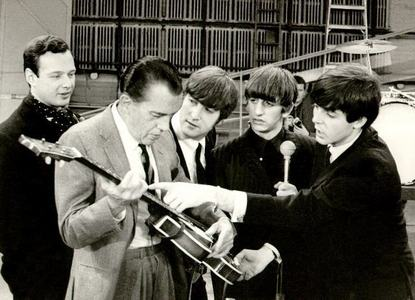 In what year did the Beatles first appear on the Ed Sullivan show?