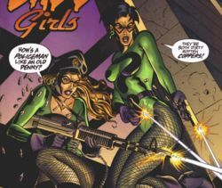 what is the name of the Riddler's henchgirls?