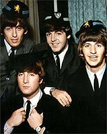 Which was the first Beatles album to only include songs written by themselves?