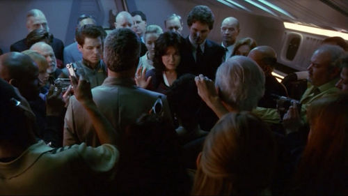 How far was Laura Roslin from the presidency, through the line of government presidential succession?