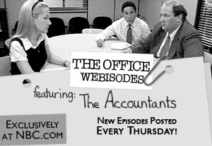 Which two Office stars co-wrote all the Webisode episodes?