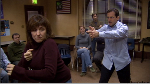 How did Michael get into improv?