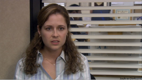 What is Pam's response to Michael saying he would like to take a bath with her?