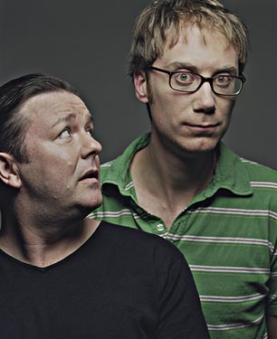 Which Season Three episode was written by The Office creators, Ricky Gervais and Stephen Merchant?