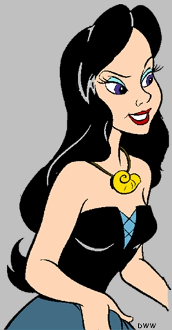 What is the name of the human woman that Ursula transforms herself into?