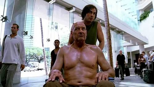 In Locke's vision where he is back in the airport, who does Boone say Locke has to save?