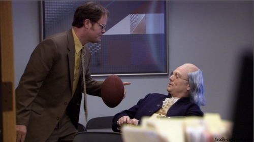 What is NOT one of the questions Dwight uses to quiz Ben Franklin?