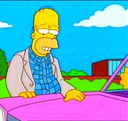 What is Homer's car made out of?