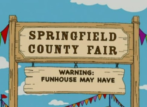 """FINISH THE SIGN GAG: What completes this sign gag from the season nineteen episode """"Apocalypse Cow""""?"""