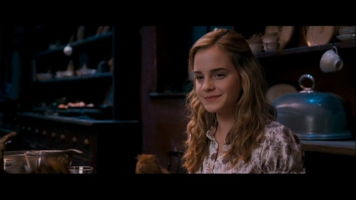 Who accompanies Hermione to Slughorn's Krismas party?
