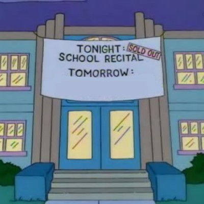 "FINISH THE SIGN GAG: What completes this sign gag from the season six episode ""'Round Springfield""?"