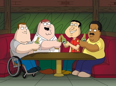 What is the name of the bar where Peter and the guys hang out?