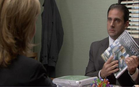 What is the name of the health care plan that Michael tells Jan he has selected for the office?