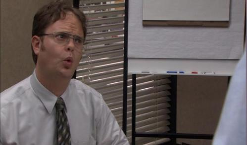 """In """"Health Care"""" what does Dwight claim he can do with concentration?"""