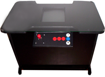 This kind of arcade cabinet is commonly referred to as a...