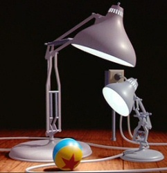 What is the name of the famous little lamp in the Pixar opening logo?