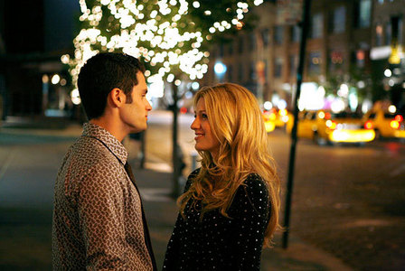 What bar game does Dan teach Serena on their first real date?