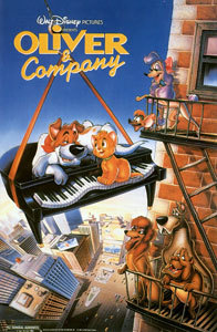 Which author was the movie Oliver and Company inspired by?