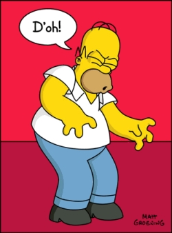 """What is the first episode in which we hear Homer say, """"D'oh!""""?"""