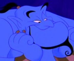 Who voices the character 'Genie' from Aladdin?