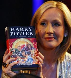What song did J.K. Rowling listen to after finishing Harry Potter and the Deathly Hallows?