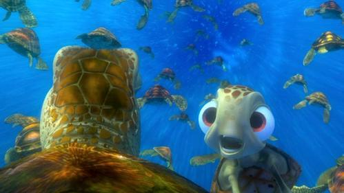 Finding Nemo · What instructions does Squirt give for exiting the East