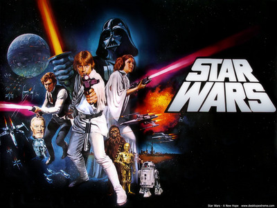 Who is the first character to utter any kind of speech in 'Star Wars: A New Hope'?