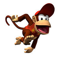 Which game marks the first appearance of Diddy Kong?