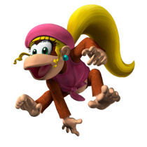 Which game marks the first appearance of Dixie Kong?