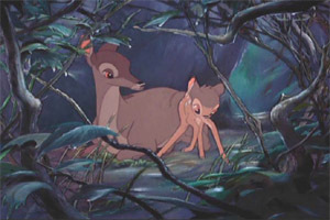 Animation from 'Bambi' was recycled in several later films.  Which was NOT one of them?
