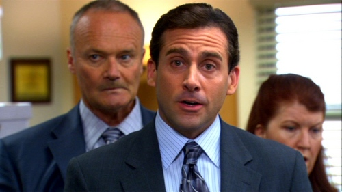 According to Michael, what is the only signal he is giving off to his employees regarding Oscar being gay?
